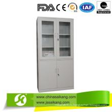 Шкаф для больничного инструмента Две части со стеклянными дверцами