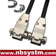 Ensemble de coque métallique à câble haut de gamme VGA / SVGA