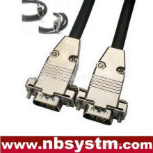 High end VGA/SVGA Cable metal shell assembly