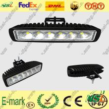 Luz de trabajo LED de 18W, Luz de trabajo LED de 1530lm, Luz de trabajo LED de 12V DC para turcks