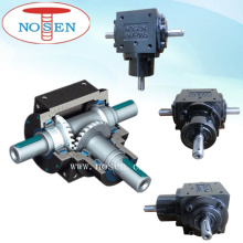 Miter Gear Three Shafts Two Speed Gearbox for Power Transmission