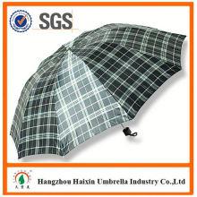 Dernière usine gros Parasol impression Logo auto ouvert 3 pli, parapluie
