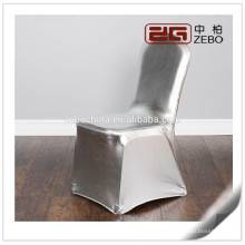 Hot Sale Customized Colorful Personalized Silver Spandex Chair Covers