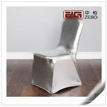 Venda quente personalizadas coloridas personalizadas cadeiras de prata Spandex cadeira