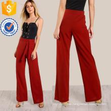 High Rise Front Tie Pants Manufacture Wholesale Fashion Women Apparel (TA3099P)
