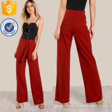 Alto Rise Front Tie Calças Fabricação Atacado Moda Feminina Vestuário (TA3099P)