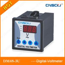 Voltagem trifásica LED AC Digital Voltímetro Dm48-3u-1
