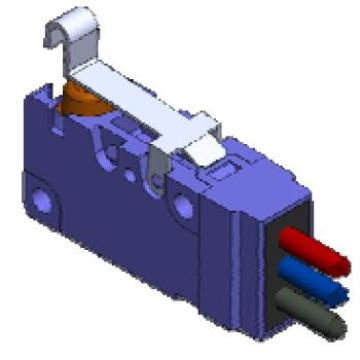 Interruptor de limite azul Lxw 24