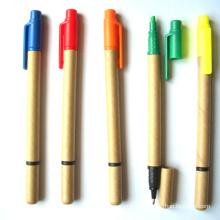 Papel Eco promocional amigável Ballpen com caneta de marca-texto