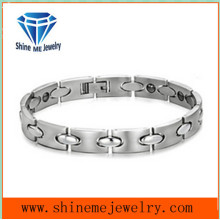 European and American Fashion Contracted Titanium Couple Bracelet with Stainless Steel Jewelry