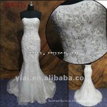 RSW129 desenhos bordados à mão vestidos de noiva