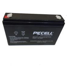 Batería de plomo 6v 7ah batería de plomo ácido recargable 6v batería de ácido de plomo y AGM