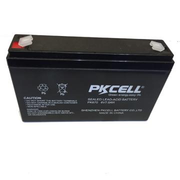 Bateria acidificada ao chumbo recarregável SLA da bateria acidificada ao chumbo 6v da bateria 6v 7ah SLA e bateria de AGM