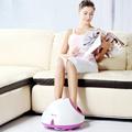 Shiatsu kneading rolling foot massager with heat