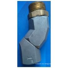 Goma de manguera de boquilla Giro universal de aleación de aluminio de 360 grados