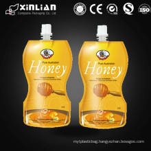 china made stand up spout pouch/custom design liquid packaging pouch/jelly pouch with spout
