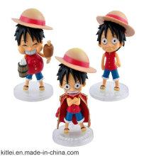 Figurine en plastique de caractère japonais de pièces de conception d'OEM / ODM