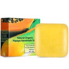 Natural Organic Papaya Handmade Dead Skin Remover Exfoliate Soap Bar