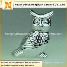 Galvanische Dekoration Paar Keramische Eule Figur