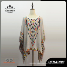 Moda Feminina Fringe Triangle Patterned Clothes