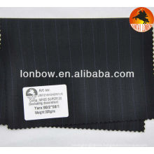 Super120's stripe wool fabric for men's suits and jackets