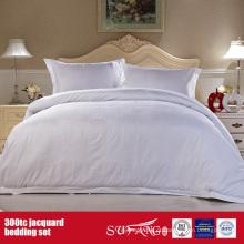 300TC Jacquard Atacado Bedding Set Hotel Cotton Bedding Set