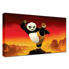 Panda Cartoon Movie Poster Art Pinturas