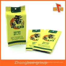 Personalizado de impresión de lado gusset kraft bolsa de alimentos de papel para la soja verde con grado alimenticio