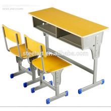 Luoyang steelart school furniture Enfants étudient la table et la chaise définissent des meubles à vendre