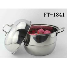 Stainless Steel More Layers Steamer Pot with Lid (FT-1841)