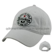 Algodón lavado bordado sarga de golf de golf de gorra de béisbol (TMB0831)
