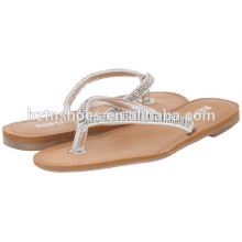 Senhoras Flat Slide Sandália 2016 Summer Womens Blingbling Flip Flop Sapatos