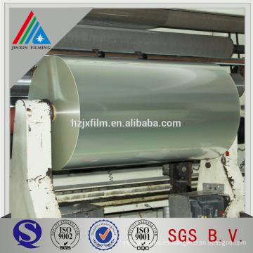 Película de poliéster lisa o metalizada de 12 micras para impresión y laminación