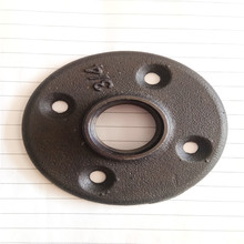 black malleable iron BSP  floor flange fitting