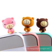 Mini oso de peluche plug anti polvo para accesorios de teléfono celular