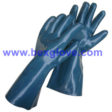 Cotton Interlock Liner, Nitrile Coating, Fully, 35cm Length Work Glove