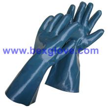 Вкладыш блокировки хлопка, Нитрила покрытием, полностью, Длина 35см перчатку работы