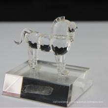 Figurines de cristal naturais do cavalo para a decoração