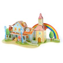 3D Rainbow House Puzzle