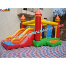 Renting Outdoor Inflatable Jump & Slide Combo, Inflatable Jumper And Slide For Kids