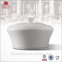 Sopera de sopa blanca caliente de la venta para el hotel, sopera de cerámica