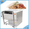 Lavadora de cepillo comercial industrial de frutas y verduras de 500kg / h