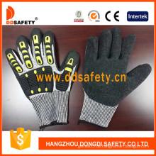 Schnittfeste Handschuhe Hppe Shell mit schwarzem Latex-TPR120
