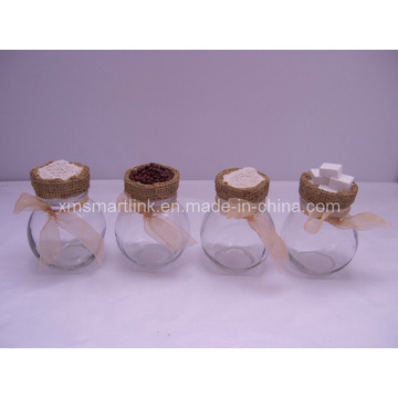 200ml Glass Spice Jar, Decorative Polyresin Decor Spice Glass Jar