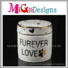 Großhandel Handgemachte Keramik Dekorative Schmuckschatulle