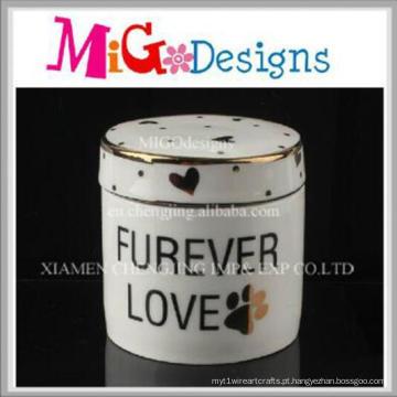 Feito à mão por atacado feito em casa caixa de jóias decorativas de cerâmica