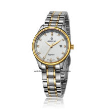 2016 billige Edelstahl Quarz Paar Armbanduhr