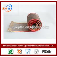 Calor material resistente material transportador de tecelagem simples fio de fibra de vidro revestido PTFE abrir cintos de malha tecido com preço competitivo