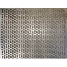 Malla de metal perforada galvanizada con orificio redondo