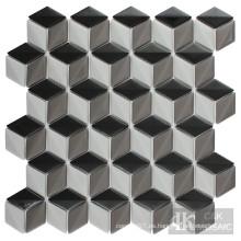 Azulejos de diamantes grises para decoración del hogar